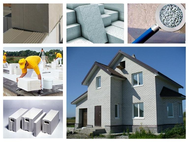 Применение и виды пористого бетона