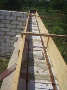 Пример опалубки с арматурой