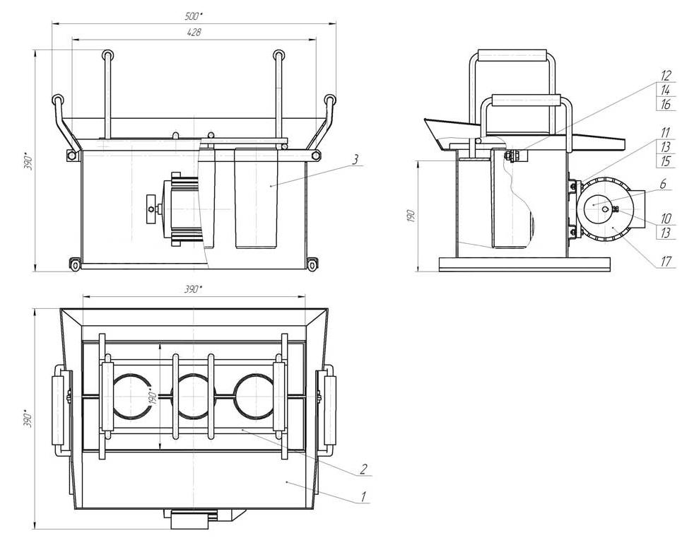Чертеж самодельного ручного станка с вибромотором