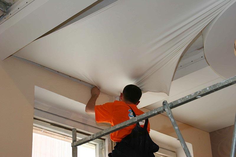 Натяжной потолок монтаж