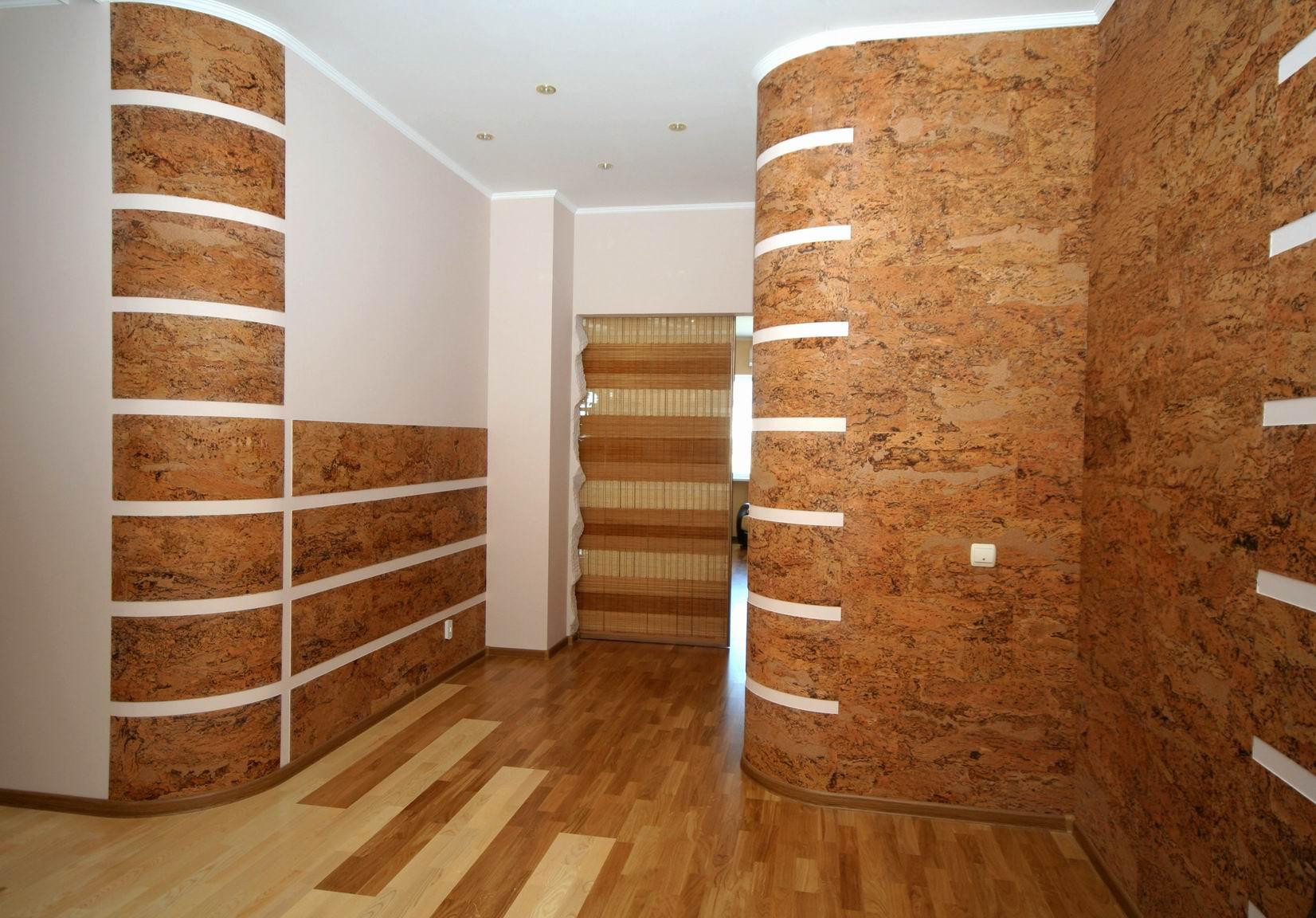 Пробковое покрытие стен – природная естественность квартирного интерьера