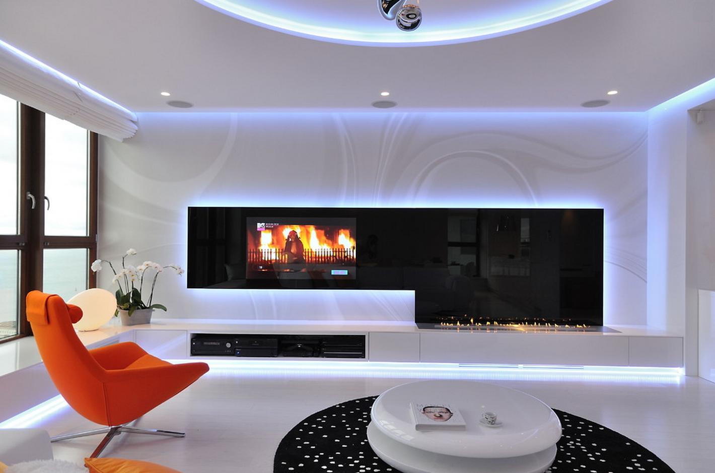 Телевизор в квартирном интерьере: советы по размещению