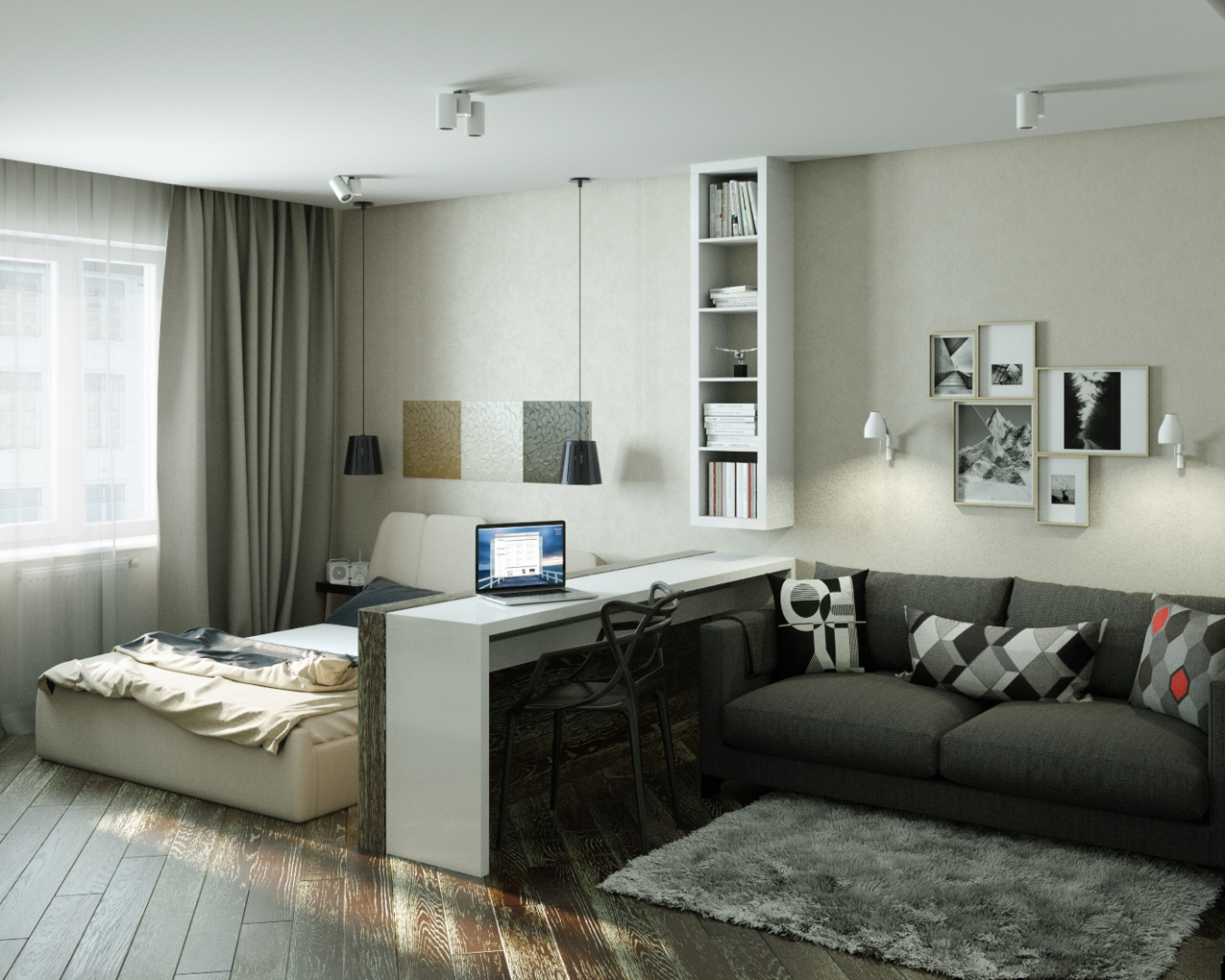 Дизайн-проект однокомнатной квартиры – как правильно распорядится пространством однушки?