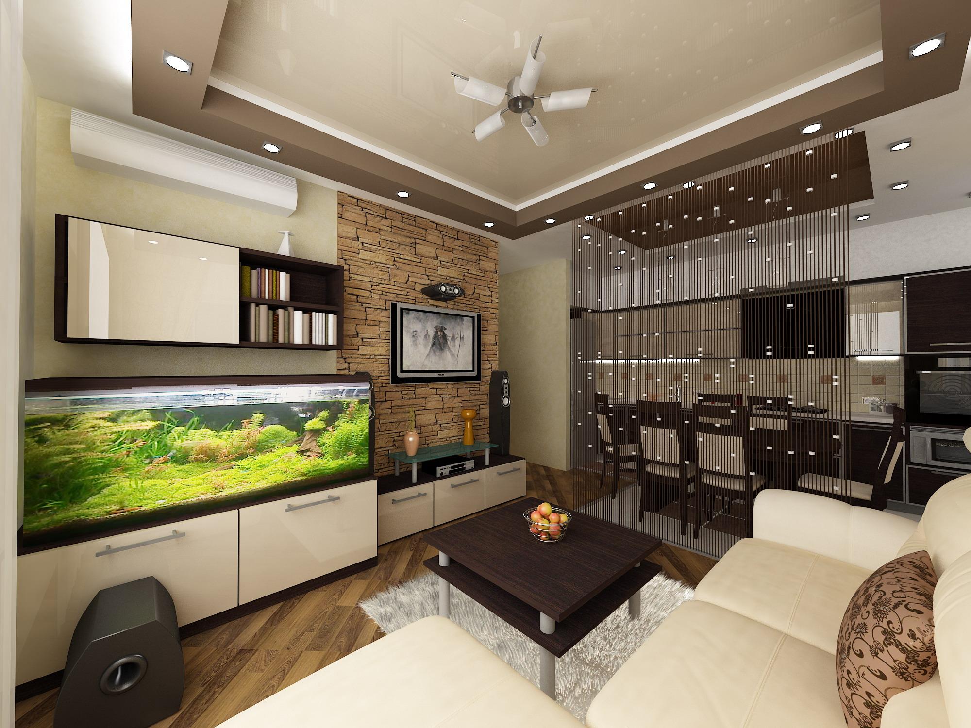 Современный квартирный дизайн: рекомендации по обустройству гостиной-кухни