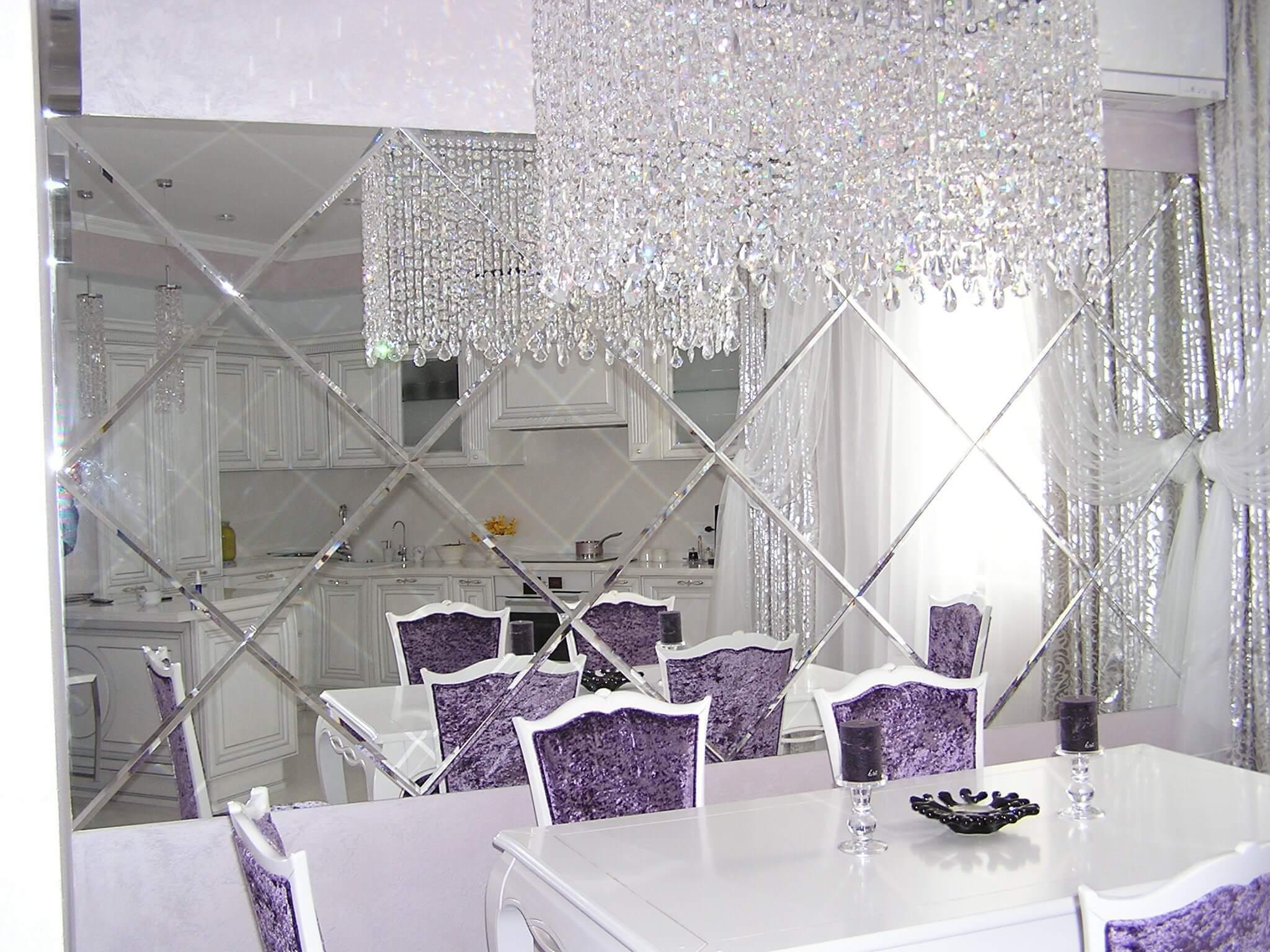 Ослепительная красота: зеркальная плитка в интерьерном дизайне