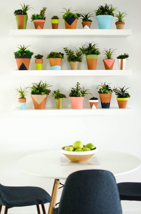 Оригинальные варианты вертикального размещения растений в квартире