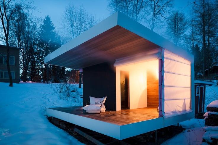 Новые возможности для комфортного отдыха – баня из бруса с открытой террасой