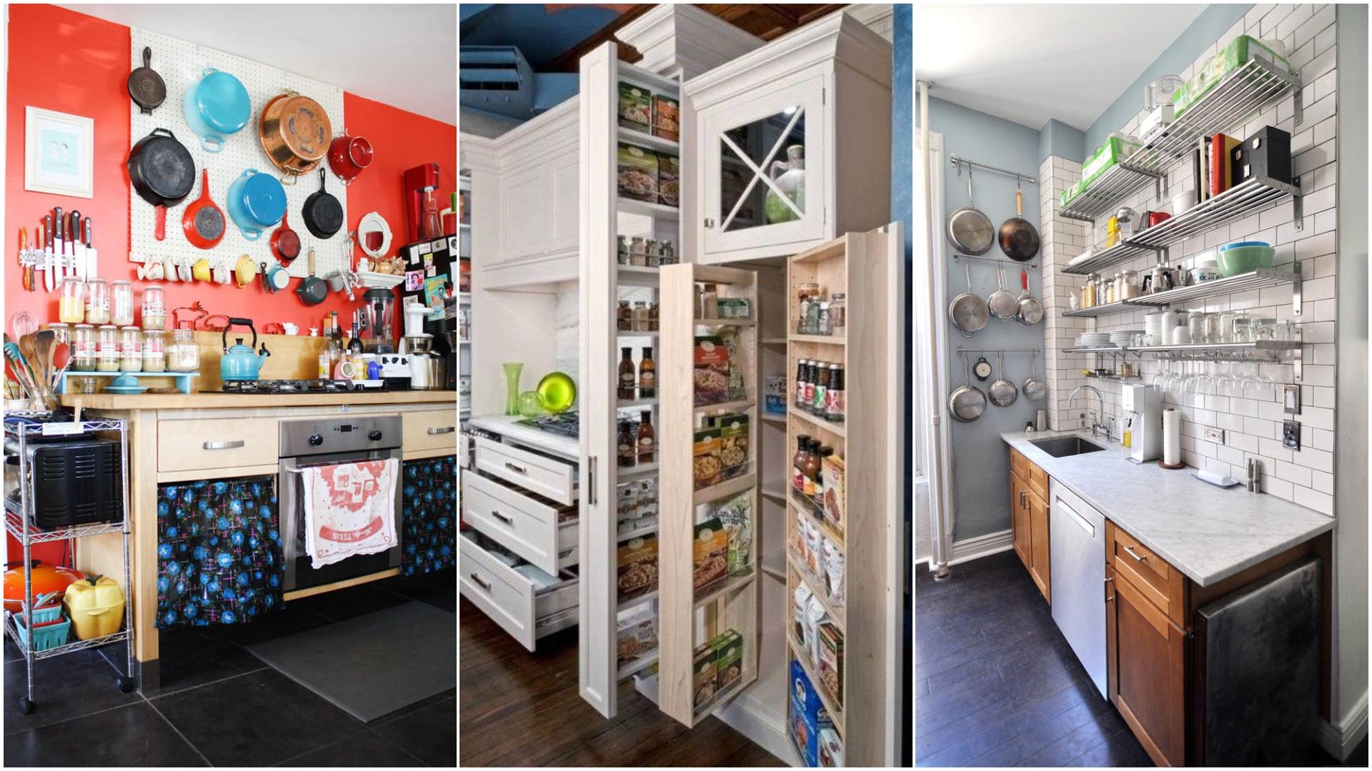 Проклятье малогабаритной кухни – оригинальные идеи и способы хранения кухонной утвари
