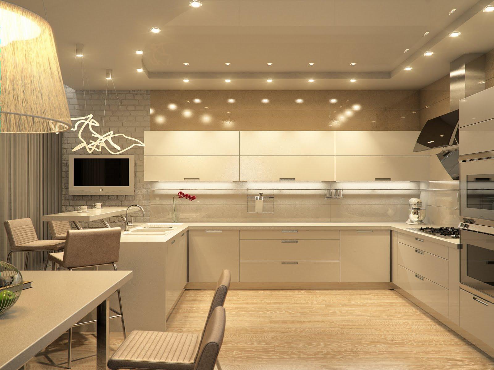 Классика, проверенная временем – Бежевая кухня и правильное освещение