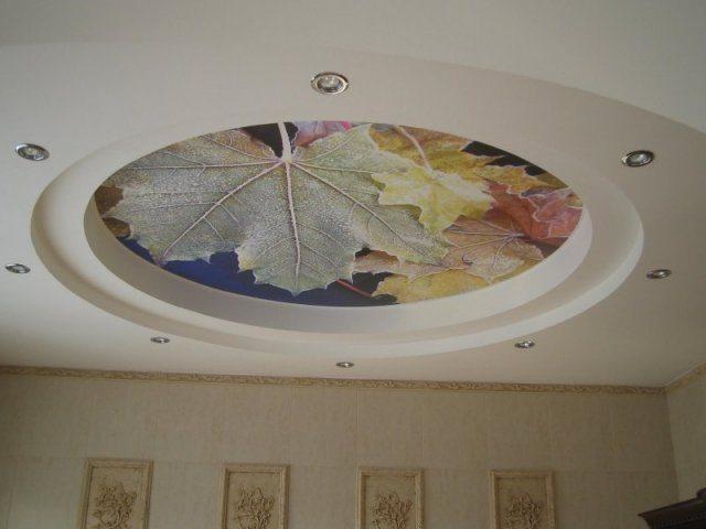 Узоры и рисунки для потолка из гипсокартона: фото и идеи