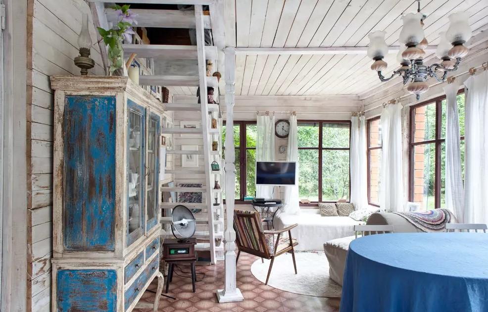 Интерьер гостиной в стиле прованс: фото и характерные черты