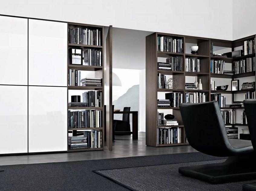 Домашняя библиотека и книжные шкафы в дизайне интерьера
