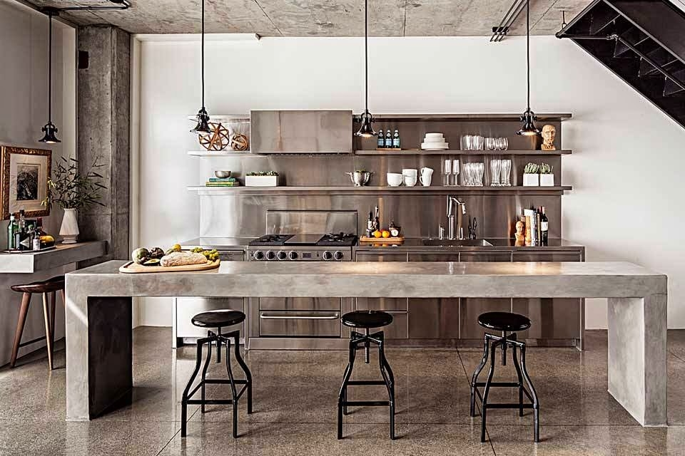 Кухня в стиле лофт [стильные идеи дизайна] Фото интерьеров 2019