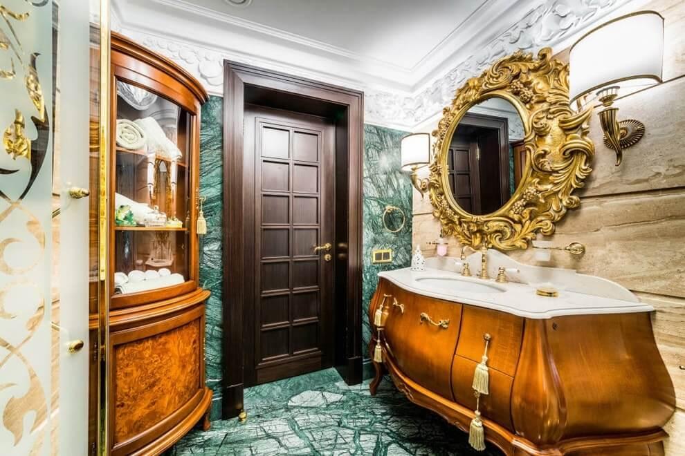 Золотой цвет в интерьере ♥️ фото, элементы, советы, стили