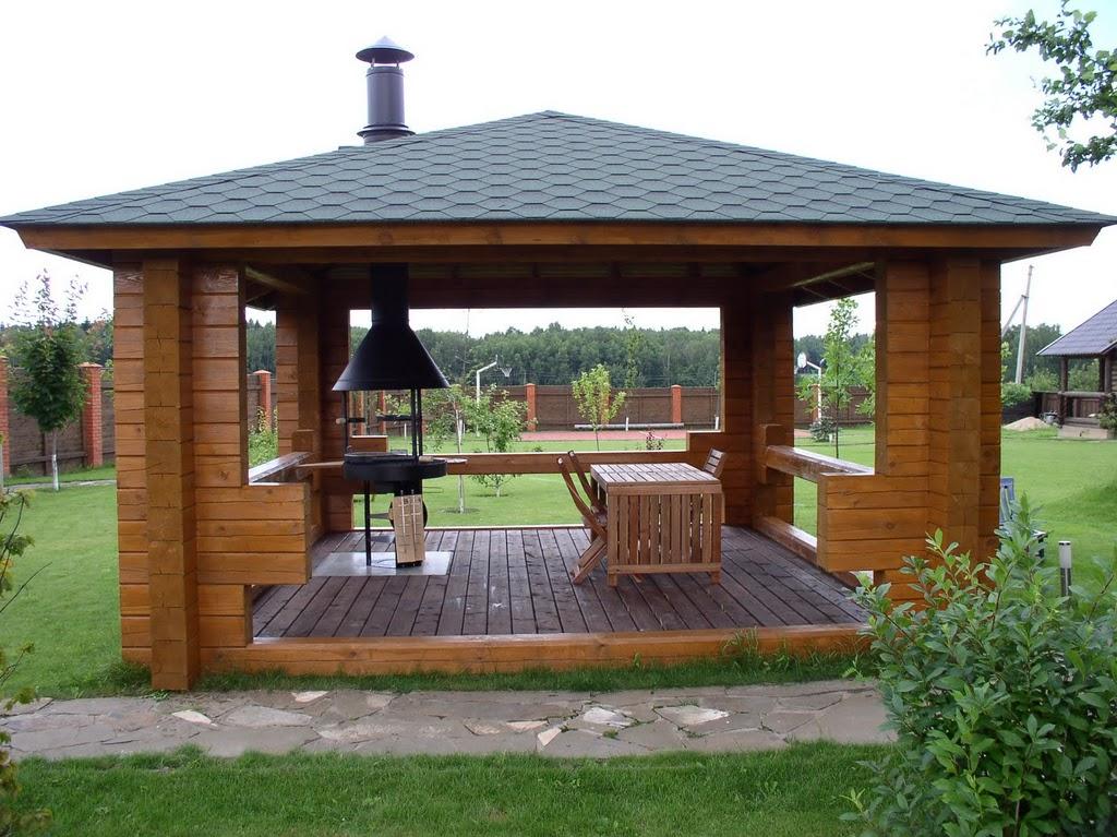 Деревянные беседки: фото, виды конструкции и материалы