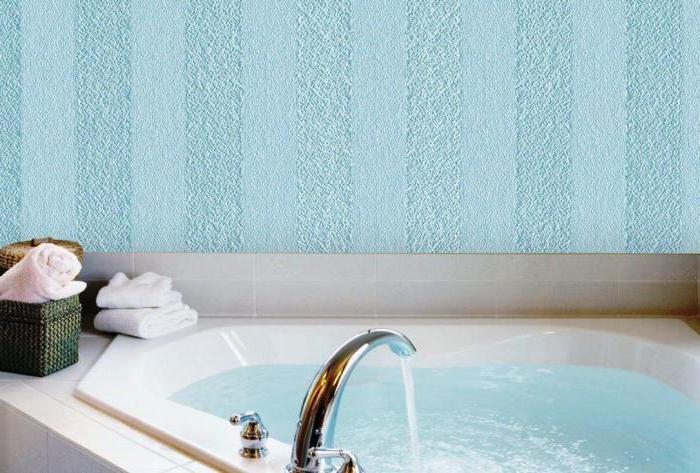 Стеклообои в ванной: фото, виды, преимущества и как клеить