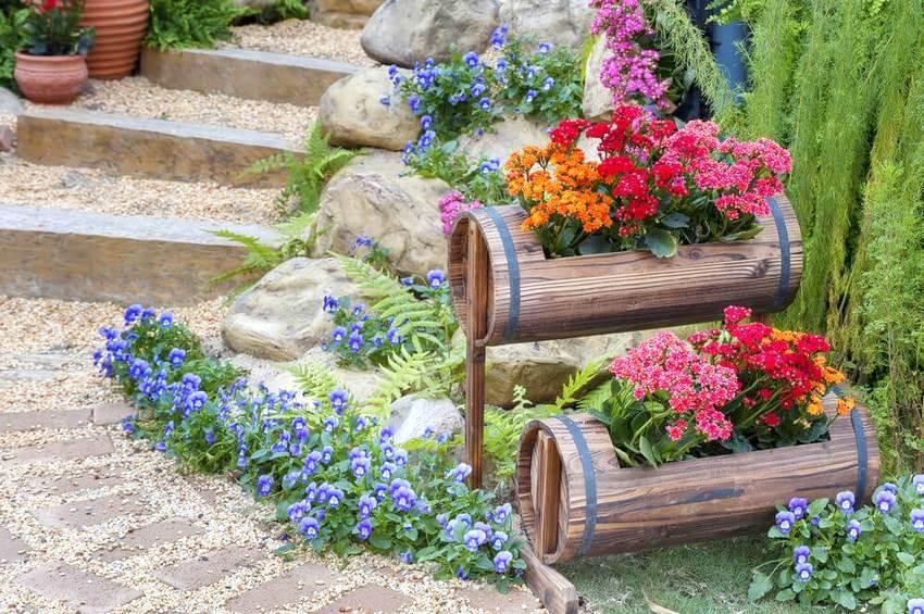 Украшения для сада своими руками: фото, декор, выбор растений