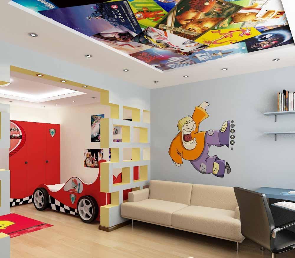 Потолки в детской комнате (фото) – яркие идеи оформления