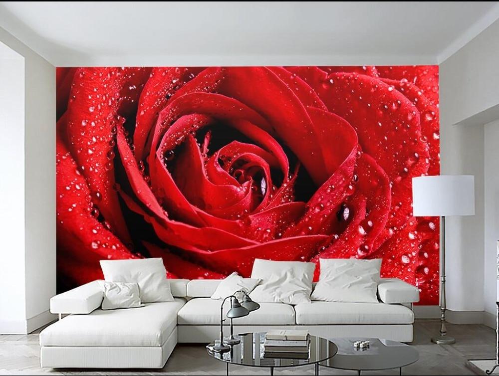 Красные обои в интерьере: фото, сочетания, дизайн, оформление