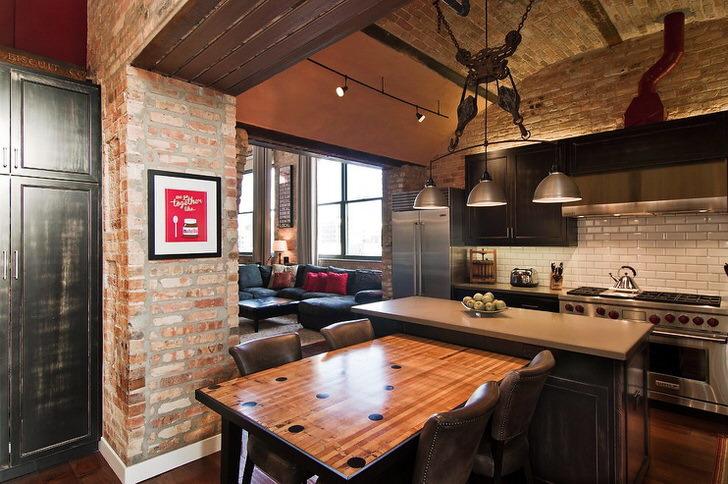 Дизайн кухни-столовой-гостиной: фото, планировка и зонирование