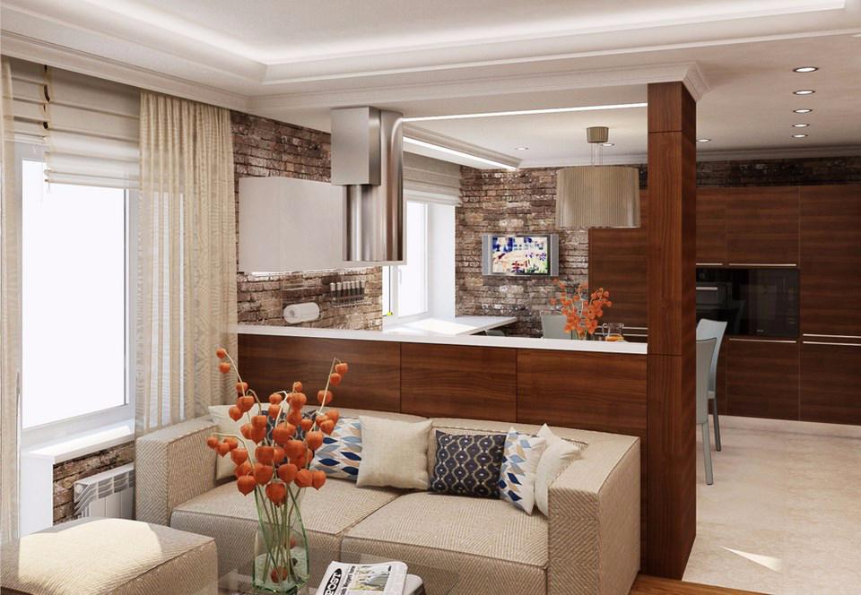 Планировка и дизайн для кухни-гостиной площадью 25 кв