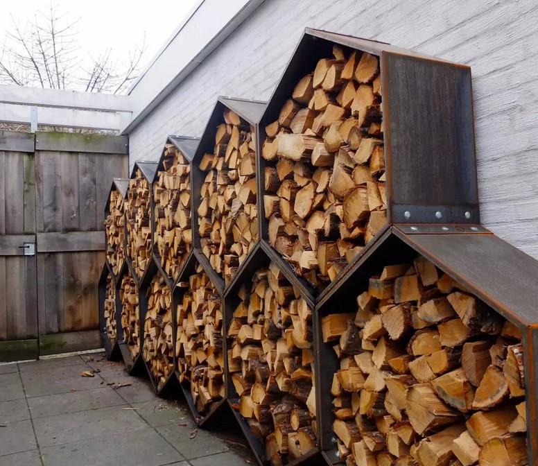 Поленница для дров 2019: что это такое, фото, разновидности