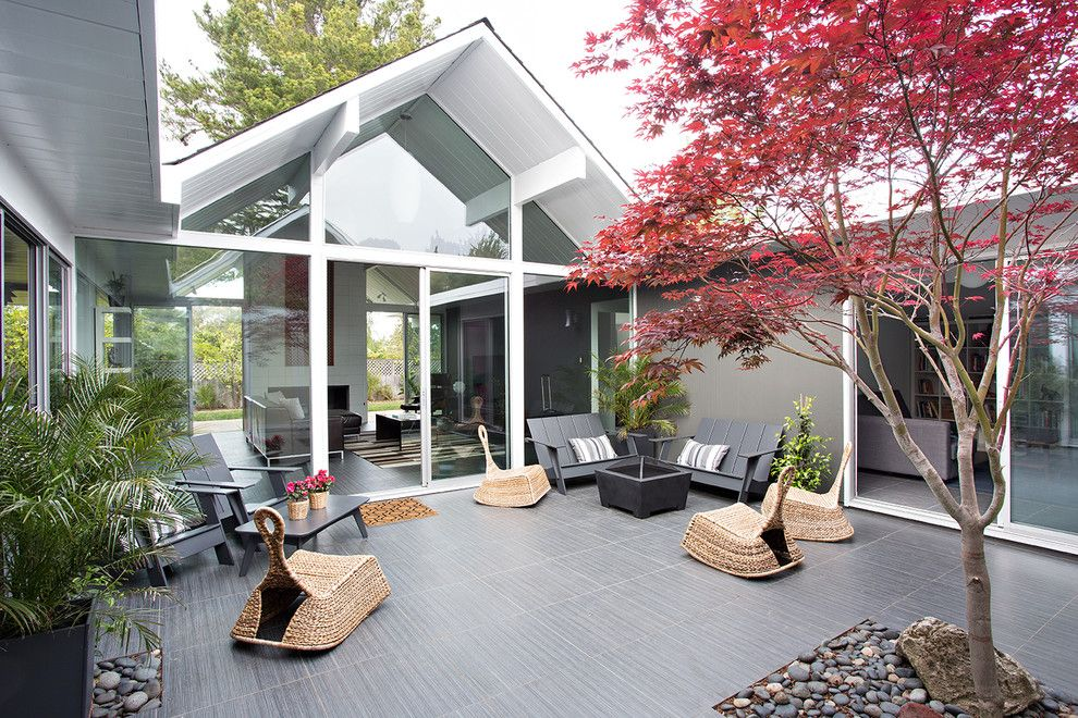 Проекты одноэтажных домов с террасой: фото и особенности