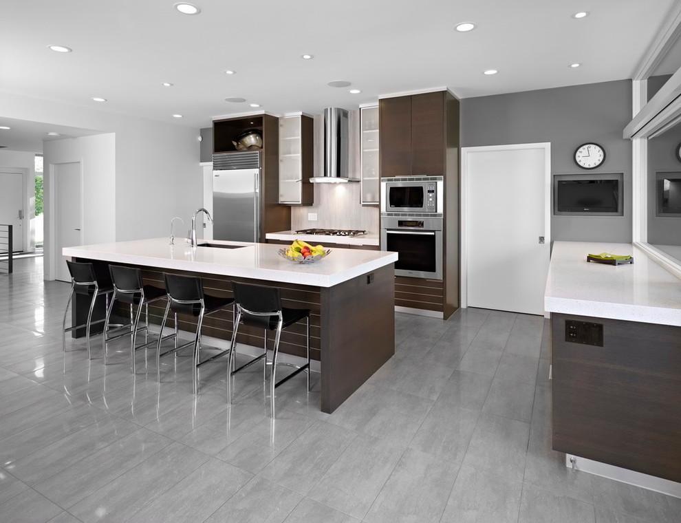 Кухня в стиле модерн: фото, материалы, бытовые приборы