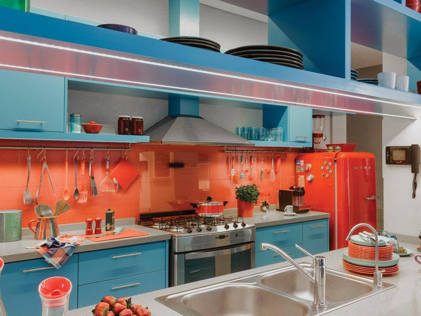 Голубая кухня ♥️ фото, сочетания цветов, особенности