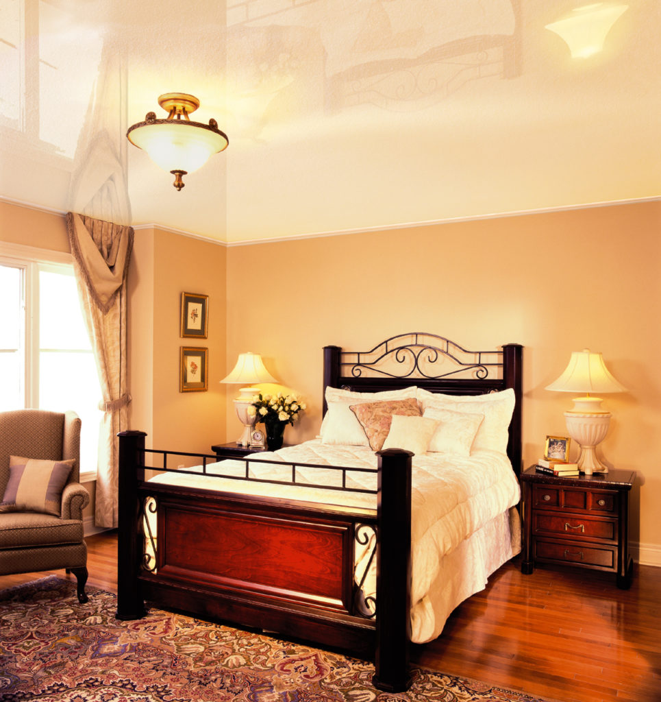 Натяжные потолки для спальни: романтично, стильно и практично - Дача