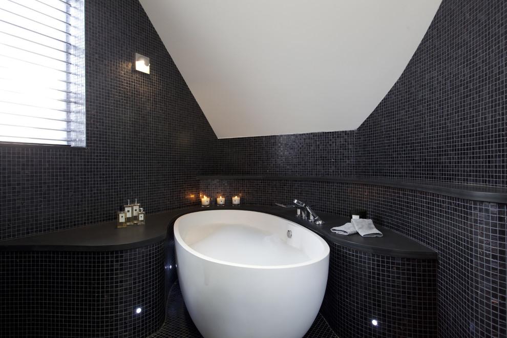 Черно-белая ванная комната: фото, особенности дизайна