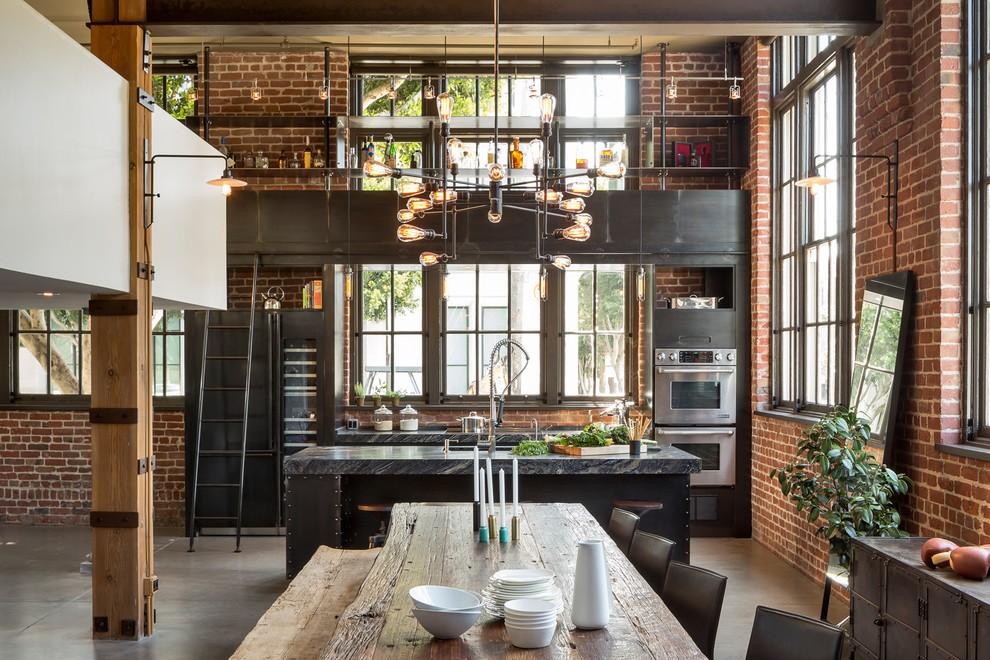 Кухня в стиле лофт: идеи индустриальной романтики