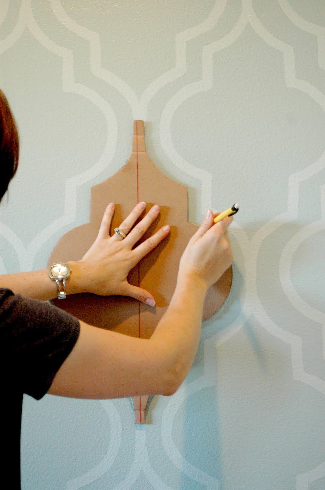 Трафареты для стен своими руками: фото, узоры, этапы