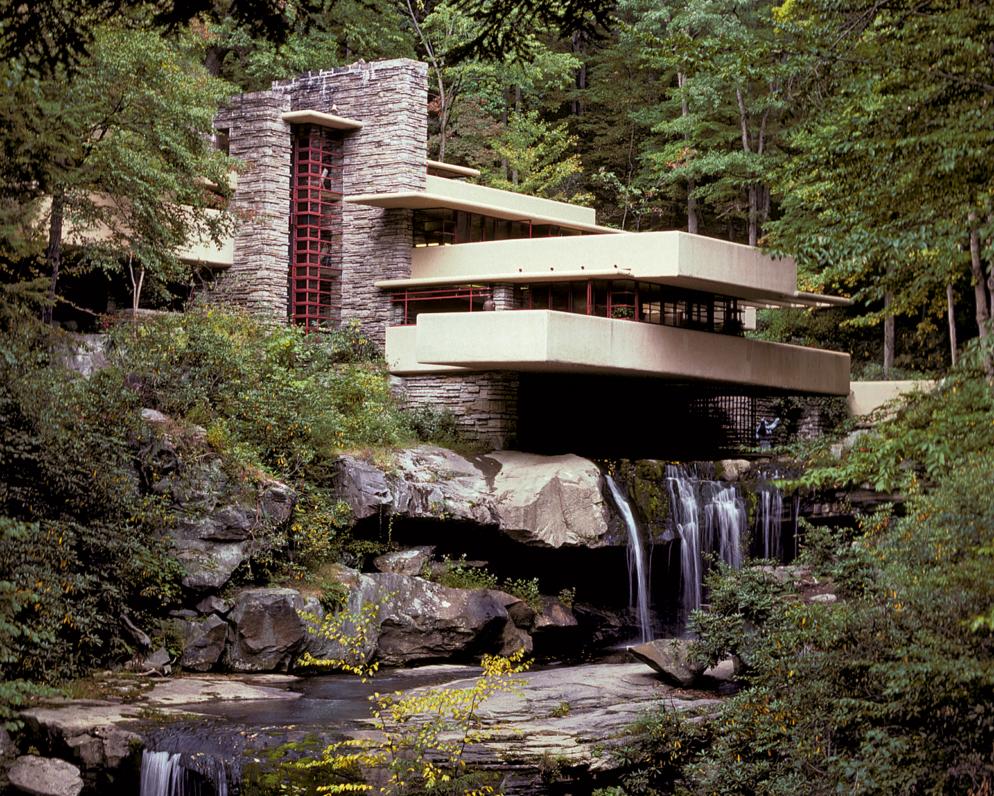 Дом над водопадом Фрэнка Райта ? фото, история, внешний вид