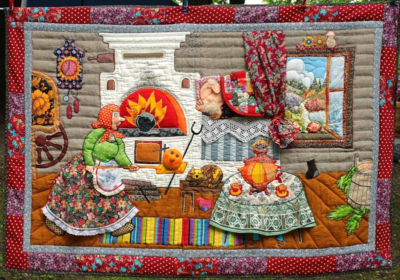 Картины из лоскутков ткани: фото, особенности, инструкция