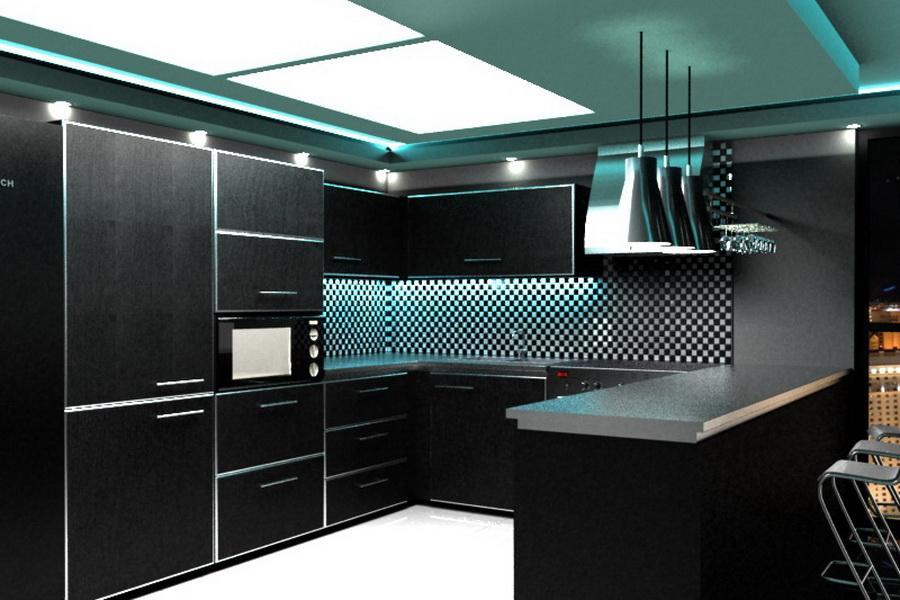 Кухня хай-тек: фото интерьеров, признаки стиля, цвета и оттенки