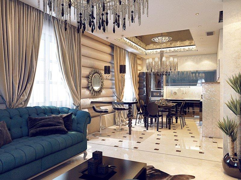 Бирюзовый диван в интерьере [Фото] Идеи для дома ❤ 2019