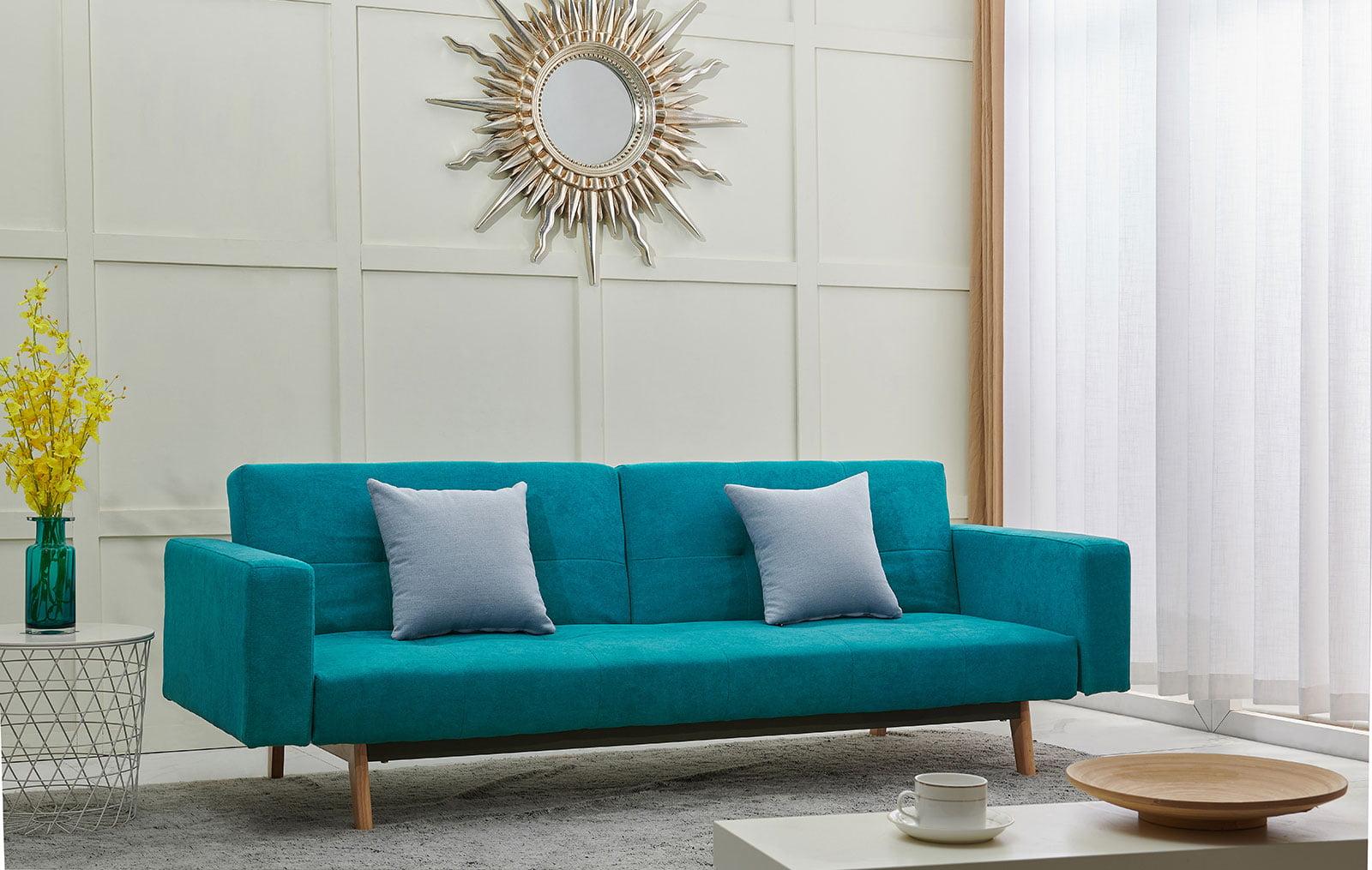 Бирюзовый диван в интерьере: фото, стиль, как выбрать