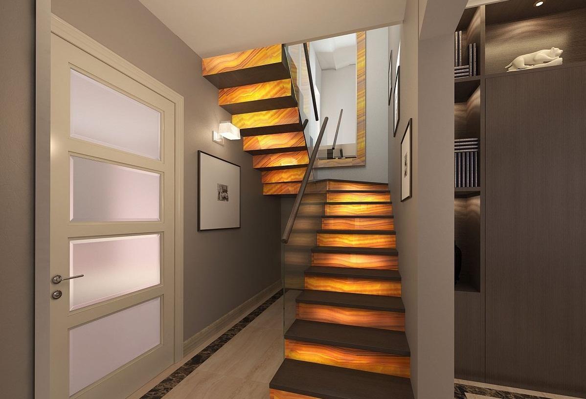 П-образная лестница на второй этаж: фото, виды, особенности