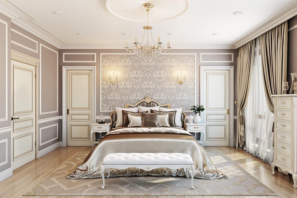 Спальни в классическом стиле: фото и особенности оформления