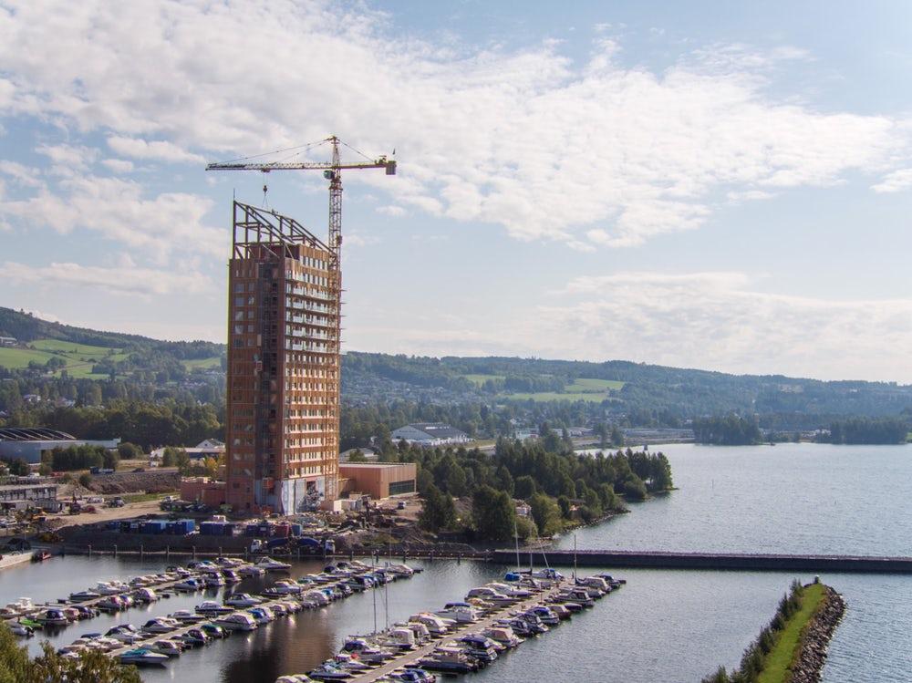 Самое высокое в мире деревянное здание: фото, проект, история