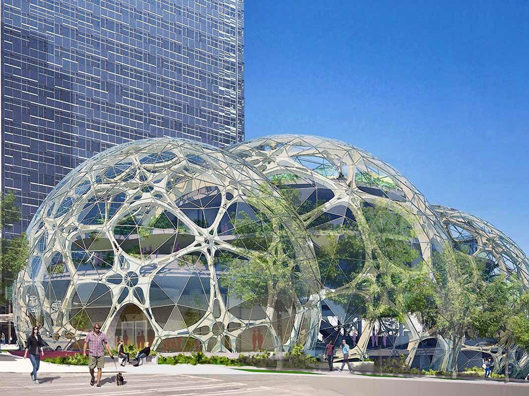 Сферические офисы «The Spheres» от Amazon: фото и проект