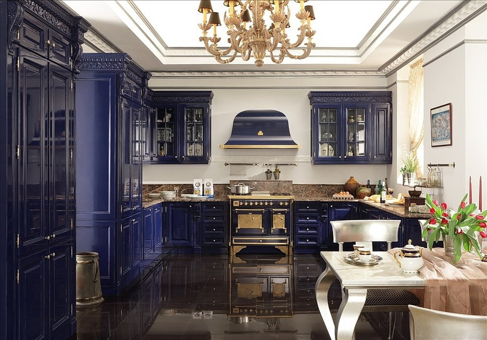 Кухня в стиле арт-деко: фото, черты стиля, особенности дизайна