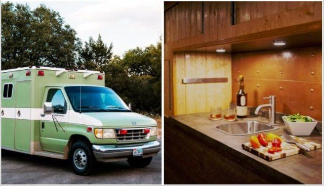 Переделка скорой помощи в дом на колесах: фото и дизайн