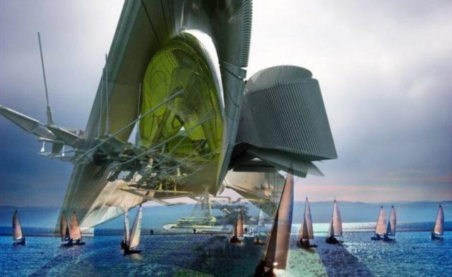 Корейский суперпроект – плавучий отель на нефтяной платформе [Margot Krasojevic Architecture]