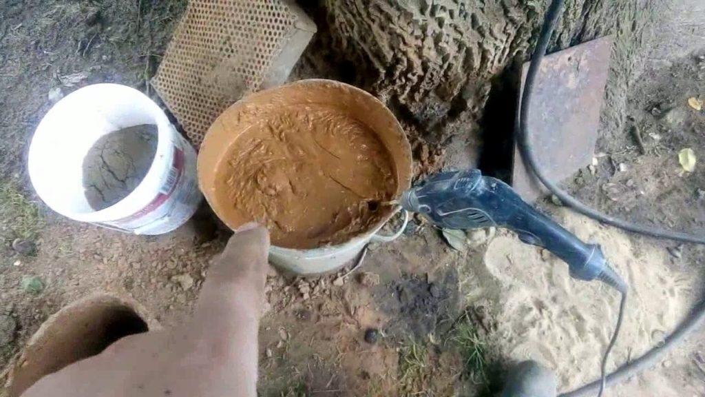 Древний строительный раствор штукатурим печь цементным раствором