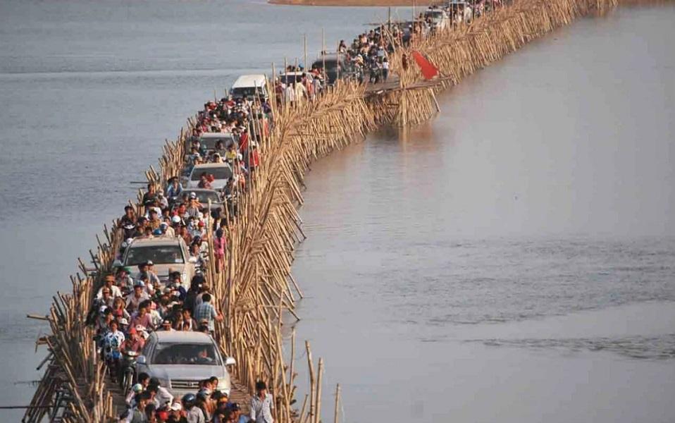 Бамбуковый мост в Камбодже: фото, материалы, история, особенности